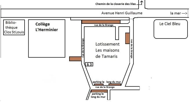 plan-lotissement-schematise-parkings-en-marron